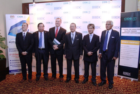 The invited VIP delegates from the Ministry of Works, CIDB, and IHRDC. (Photo: Business Wire)