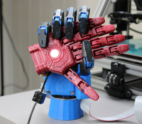 """The UK team that created Open Bionics, a low-cost robotic hand powered by Intel Edison, is one of ten finalists vying for the $500,000 grand prize in the Intel """"Make it Wearable"""" challenge. (Photo: Business Wire)"""