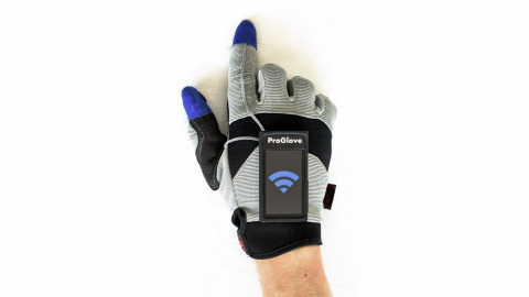 """The Germany team that created ProGlove, a hand-worn prototype production tool powered by Intel Edison, is one of ten finalists vying for the $500,000 grand prize in the Intel """"Make it Wearable"""" challenge. (Photo: Business Wire)"""