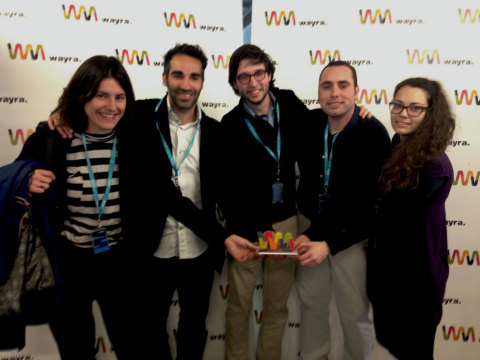 """The Spain team that created First V1sion, a broadcast system for professional athletes powered by Intel Edison, is one of ten finalists vying for the $500,000 grand prize in the Intel """"Make it Wearable"""" challenge. (Photo: Business Wire)"""