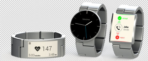 """The UK team that created Blocks, a prototype smart watch with interchangeable hardware powered by Intel Edison, is one of ten finalists vying for the $500,000 grand prize in the Intel """"Make it Wearable"""" challenge. (Photo: Business Wire)"""