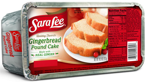 Sara Lee(R) Gingerbread Pound Cake is a limited edition flavor made with real ginger. It is now available in the freezer section at select grocery stores nationwide, through this fall and holiday season. (Photo: Business Wire)