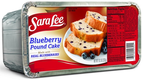 Sara Lee(R) Blueberry Pound Cake is rich, tender and made with real blueberries. It is now available in the freezer section at grocery stores nationwide. (Photo: Business Wire)