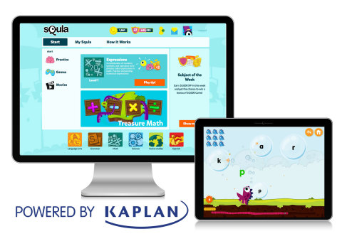 Squla, a leading European children's learning technology company, and Kaplan have joined forces to bring Squla's unique game-based K-6 learning program to children in the United States.