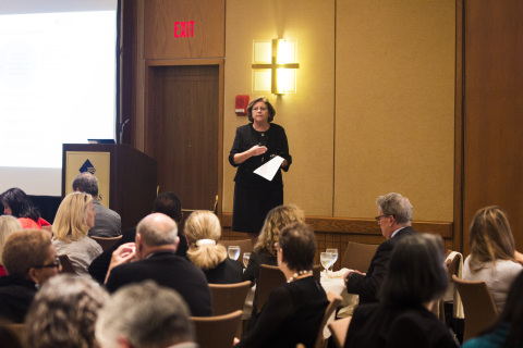 Maureen Bisognano, IHI President and CEO, kicks off meeting of more than 200 innovators from health and health care working to improve the health of millions by 2020. (Photo: Business Wire)