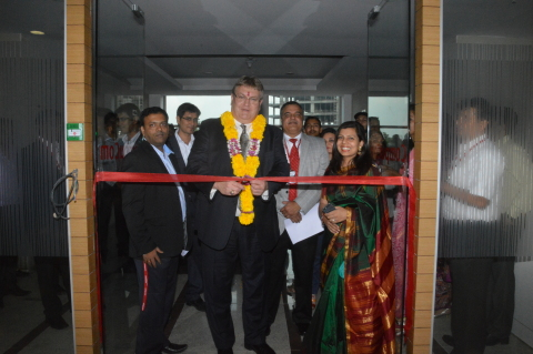 Dave Grote, CompuCom's VP & GM of Shared Services, presided over the dedication of the company's new facility in Pune. (Photo: Business Wire)