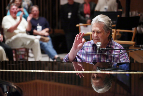 Brian Wilson Performs Private Playback Session for Chase Cardholders in Studio A at Capitol Studios