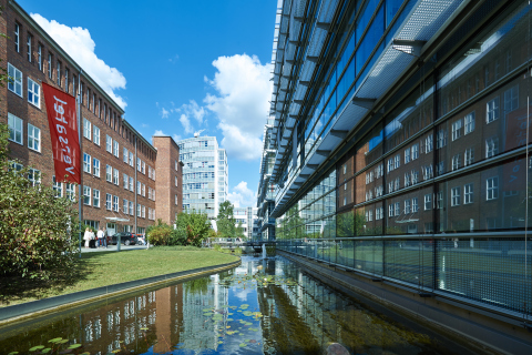 On the grounds of Anthropolis, a six-building office complex in Berlin, Germany, which is now owned by Westcore Properties. Two of the office buildings are designated historical and were once home to Albert Einstein's office. (Photo: Business Wire)