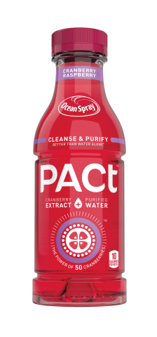 Meet PACt™ cranberry extract water, Ocean Spray's groundbreaking innovation that combines the power of the cranberry with the hydration benefits from purified water to help cleanse and purify the body better than water alone*. Visit PACt.OceanSpray.com for more info. (Photo: Business Wire)