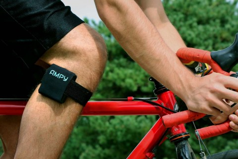 A cyclist using AMPY, the latest Proto Labs Cool Idea! Award winner, to build a smartphone charge. (Photo: Business Wire)