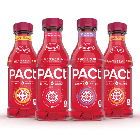 Meet PACt™ cranberry extract water, Ocean Spray's new beverage that harnesses the health benefits of the cranberry with the hydration of purified water to fit your healthy lifestyle every day, everywhere and in every way. Visit PACt.OceanSpray.com for more info. (Photo: Business Wire)