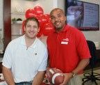 Former NFL Tight End Chris Cooley and Cardinal Bank Rockville Banking Center Manager Andy Williams (Photo: Cardinal Bank)