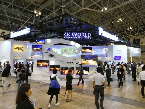 Panasonic and Technics Booth at Life & Society Stage in CEATEC JAPAN 2014 (Photo: Business Wire)