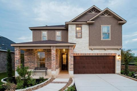 This 2,403 square foot home is one of 13 single- and two-story floor plans offered by KB Home in its