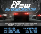 Ubisoft is bringing the highly anticipated open world driving game, The Crew, on a six-week tour of key college football matchups across the United States (Graphic: Business Wire)