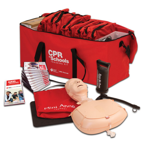 The American Heart Association CPR in Schools Training Kit. (Photo: American Heart Association)