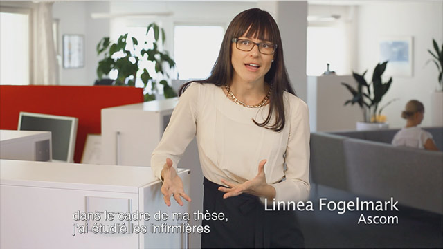 Video in French Ascom Myco - Inspired by nurses.