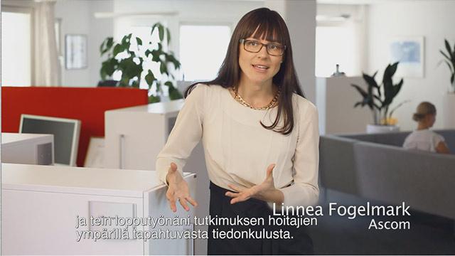 Video in Finnish Ascom Myco - Inspired by nurses.