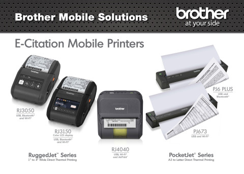 Brother will feature its full-page PocketJet(R) and small-format RuggedJet(R) mobile printers now with AirPrint(TM), at IACP 2014 (Photo: Business Wire)