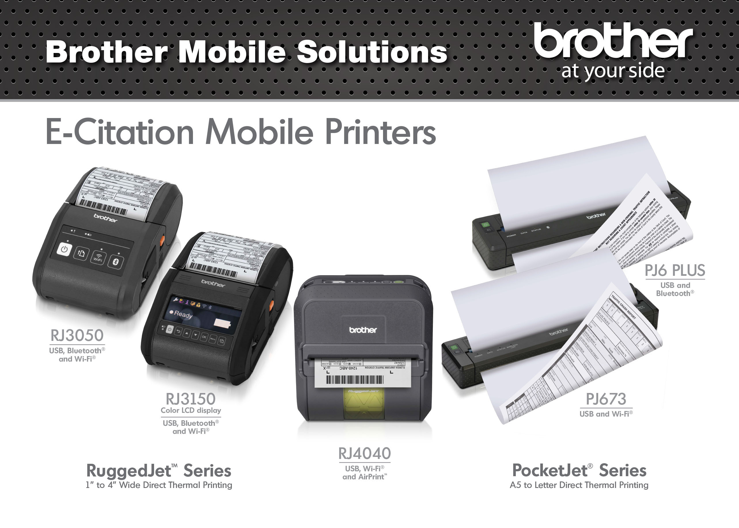 Brother Mobile Solutions To Feature Pocketjet And Ruggedjet Printers Rugged Carry Cases At Iacp In Orlando Business Wire