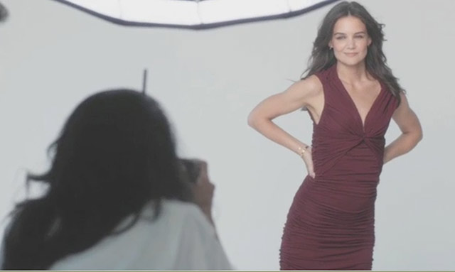 Katie Holmes for Olay Ad Campaign