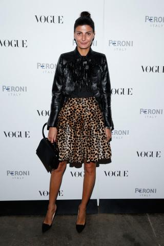 Giovanna Battaglia at Peroni Nastro Azzurro celebrates The Visionary World of Vogue Italia (Photo: Business Wire)