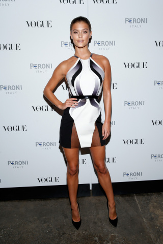Nina Agdal at Peroni NastroAzzurro celebrates the launch of The Visionary World of Vogue Italia (Photo: Business Wire)
