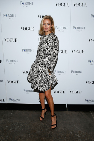 Carolyn Murphy at the launch of Peroni Nastro Azzurro celebrates The Visionary World of Vogue Italia (Photo: Business Wire)