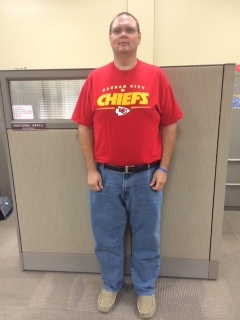 Kansas City resident Chris Dorrell after he dropped more than 100 pounds, most recently weighing in at 290 pounds.