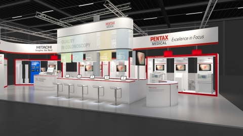 PENTAX Medical Booth at UEGW 2014 (Photo: Business Wire)