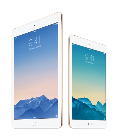 Apple today introduced iPad Air 2, the thinnest and most powerful iPad ever, and iPad mini 3; now av ...