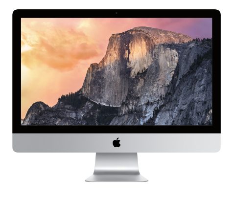 The 27-inch iMac with Retina 5K display features a breathtaking 14.7 million pixel display so text a ...