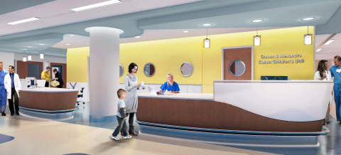 Rendering of the Nurses Station in the new Cohen Children's Institute. (Graphic: Business Wire)
