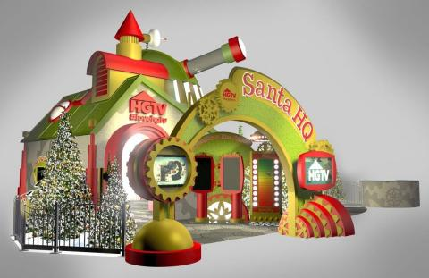 A rendering of HGTV Santa HQ. (Photo: Business Wire)