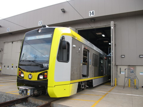 Kinkisharyo International delivers its first light rail car to Los Angeles Metro under the company's P3010 contract. The delivery was ahead of schedule, a first for Metro. (Photo: Business Wire)