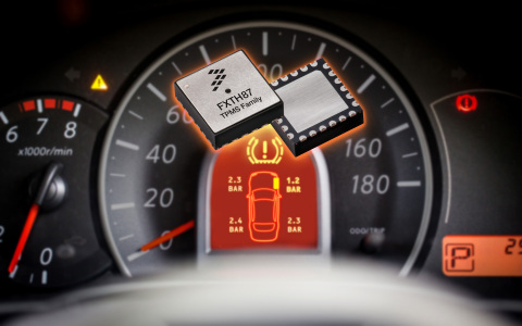 Freescale's new FXTH87 is the world's smallest tire pressure monitoring system (Photo: Business Wire ...