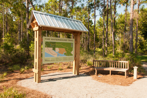 The Watersound Trail Head located near Village Commons in the Watersound Origins community. (Photo: