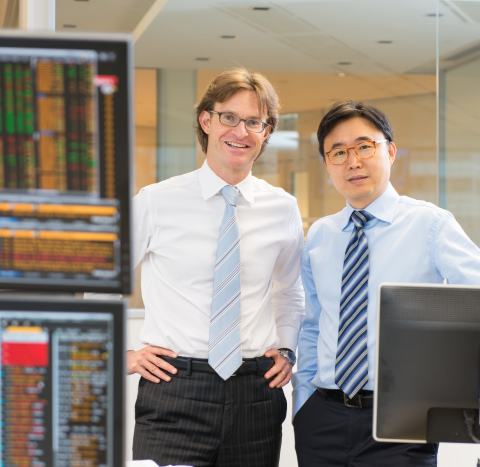SC Lowy Co-founders Michel Lowy and Soo Cheon Lee at the company headquarters in Central, Hong Kong. (Photo: Business Wire)