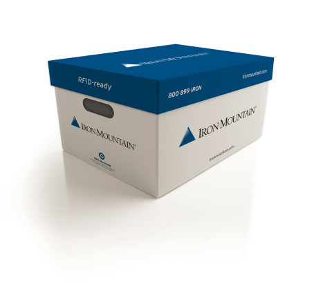 Iron Mountain's new RFID-ready box, available in North America beginning in 2015. (Photo: Business Wire)
