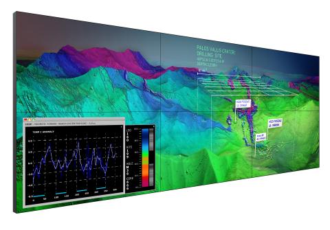 Clarity Matrix Ultra-Narrow Bezel - Control Room (Photo: Business Wire)