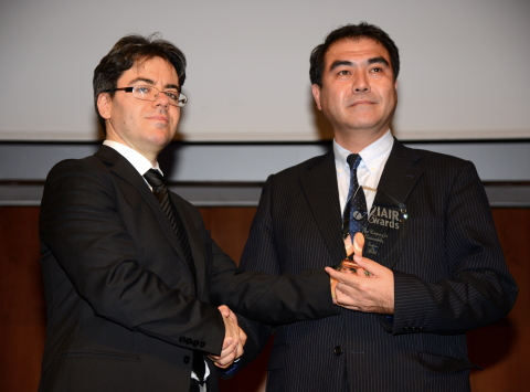 Mr. Dou Kani, CEO Power Japan Plus awarded at IAIR Awards 2014 (Photo: Business Wire).