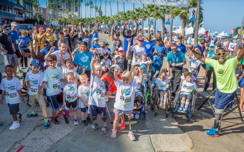 More than 80 kids with physical challenges from around the country participated in the Kid's Run during the Challenged Athletes Foundation's 21st Annual Aspen Medical Products San Diego Triathlon Challenge. (photo credit: GoShiggyGo Photography)