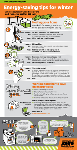 Save energy this winter by recognizing how to fix common sources of energy waste in your home. (Graphic: Business Wire)