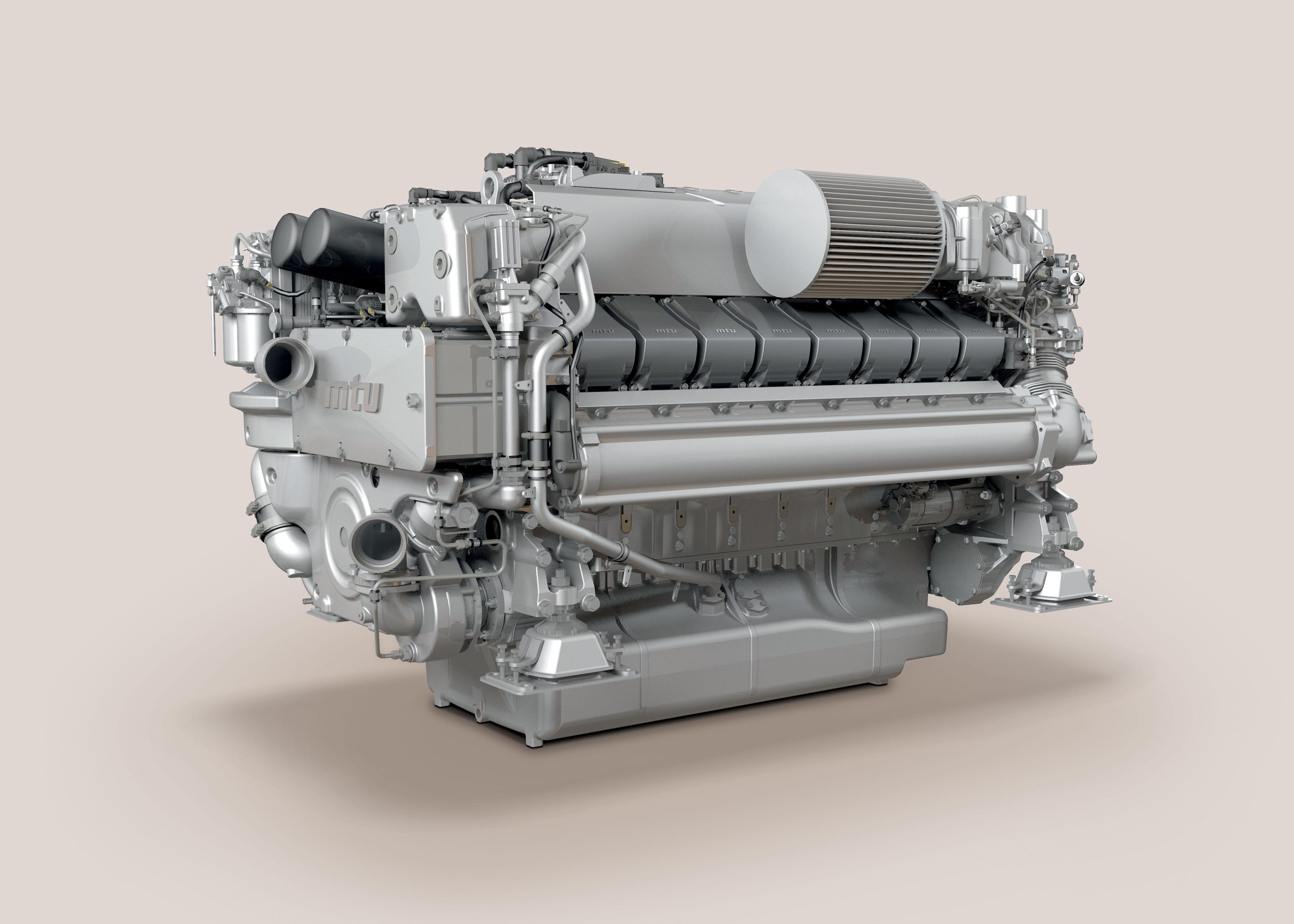 Rolls Royce Presents New MTU Series 2000 Yacht Engine at Fort
