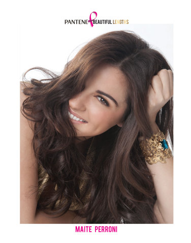 For the third year, Telenovela Actress and Singer, Maite Perroni, joins Pantene Beautiful Lengths. (