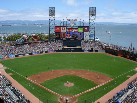 With a chance of rain over the weekend in San Francisco, MLB World Series fans can rest easy knowing that the custom designed SubAir System installed at AT&T Park will keep the turf dry and safe while keeping the World Series games on schedule. (Photo: Business Wire)