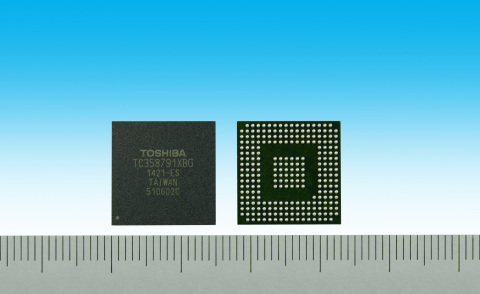 Toshiba: Automotive infotainment companion chip supporting high-resolution multimedia connectivity and camera devices (Photo: Business Wire)