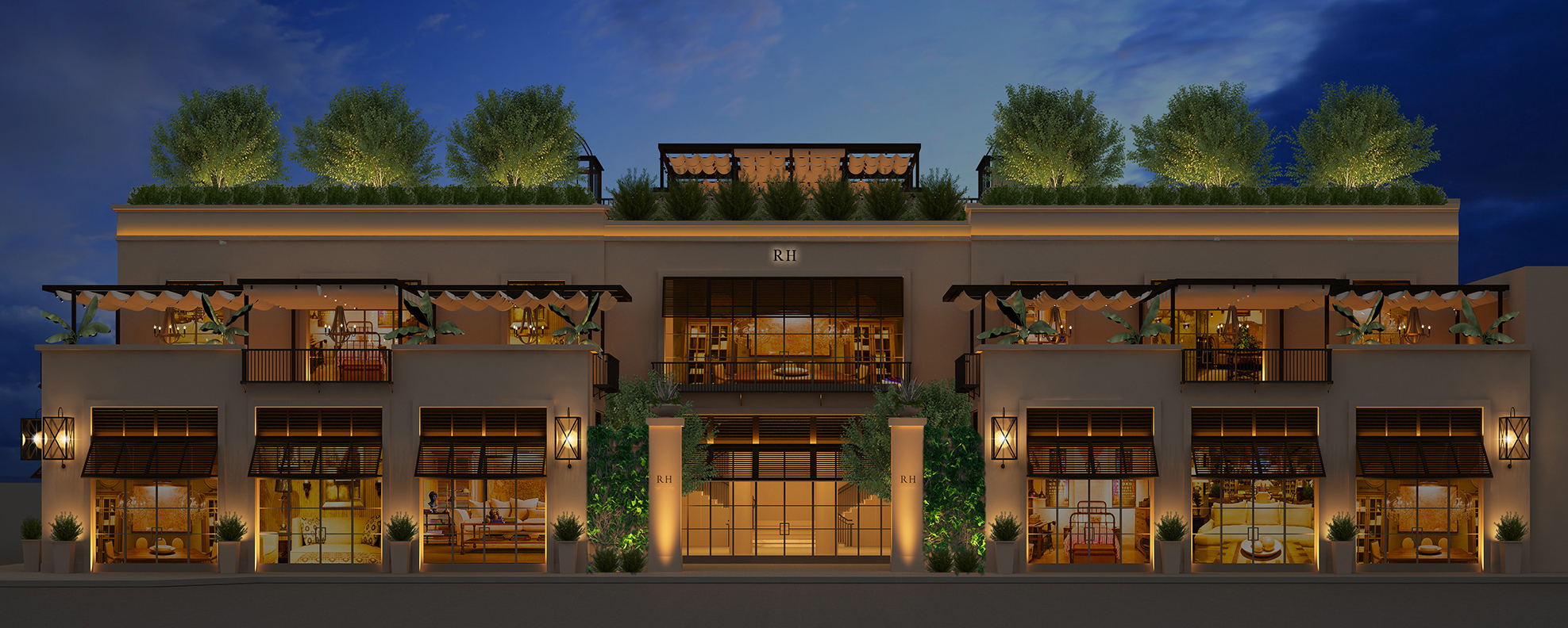 restoration hardware announces the opening of rh west hollywood the gallery on melrose avenue. Black Bedroom Furniture Sets. Home Design Ideas