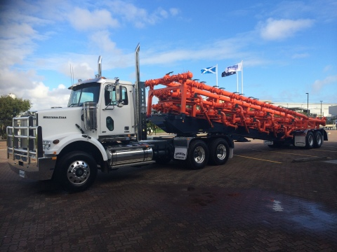 SPM(R) Manifold Trailer with SPM(R) Safety Iron(TM) connections manufactured by Weir Oil & Gas, the  ...