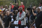 LeBron James returns to Akron to help Sprite unveil newly refurbished basketball courts at Patterson Park. (Photo: Business Wire)